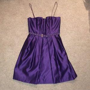 Foley+Corinna purple satin cocktail dress - S
